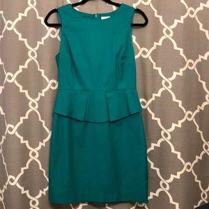 J.Crew Peplum Dress - Emerald Green Size 2
